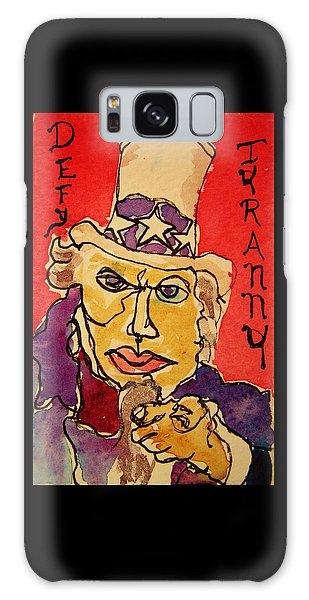 Uncle Sam Defy Tyranny Galaxy Case