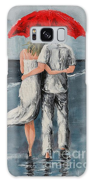 Under Our Umbrella - Modern Impressionistic Art - Romantic Scene Galaxy Case