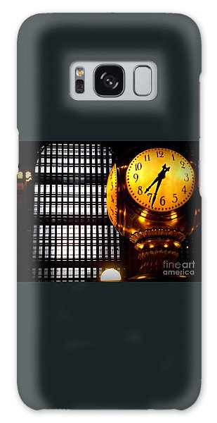 Under The Famous Clock Galaxy Case by Miriam Danar