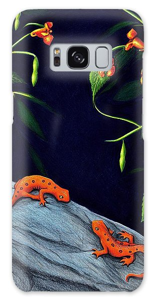 Newts Galaxy Case - Understory by Danielle R T Haney