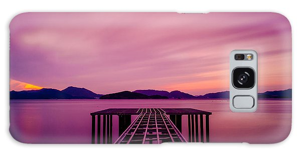 Unfinished Pier At Sunset Galaxy Case