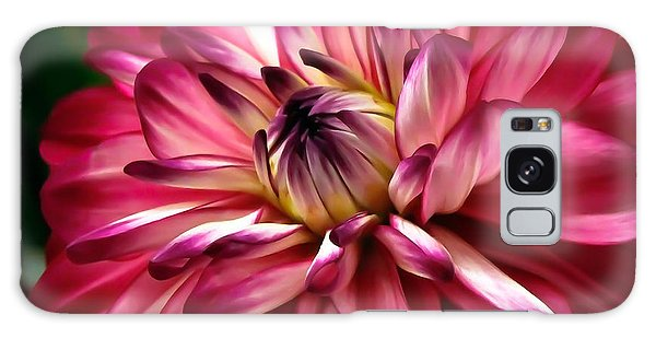 Dahlia Unfolding Galaxy Case by Athena Mckinzie