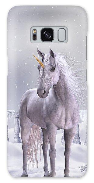 Unicorn In The Snow Galaxy Case