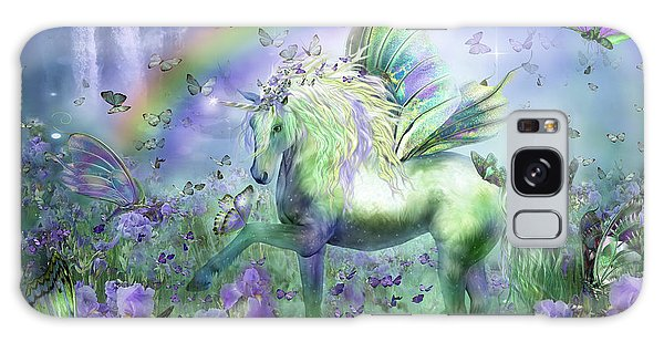 Unicorn Of The Butterflies Galaxy Case