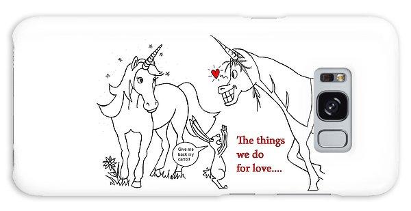 Unicorn Valentines Card Galaxy Case