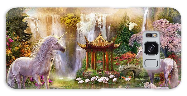Horizontal Galaxy Case - Unicorn Valley Of The Waterfalls by MGL Meiklejohn Graphics Licensing