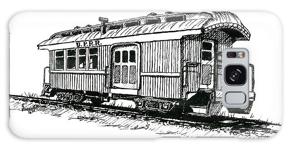 Trains Galaxy Case - Union Pacific Combine Car by Sam Sidders