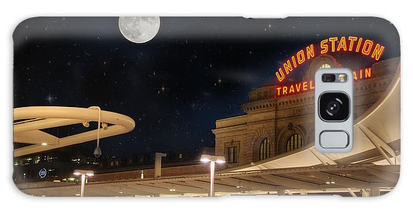 Union Station Denver Under A Full Moon Galaxy Case