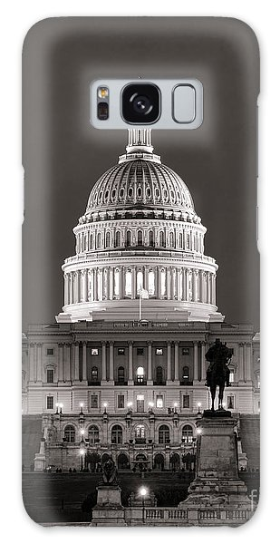 Washington D.c Galaxy Case - United States Capitol At Night by Olivier Le Queinec