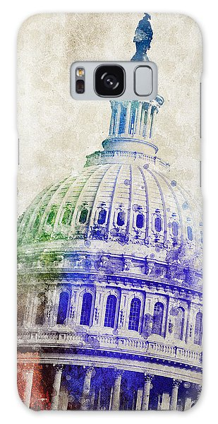 Front Galaxy Case - United States Capitol Dome by Aged Pixel