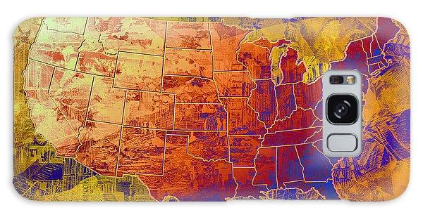 Vintage Chicago Galaxy Case - United States Flag Map Vintage 2 by Bekim M