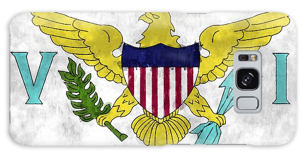 Bahamas Galaxy Case - United States Virgin Islands Flag by World Art Prints And Designs