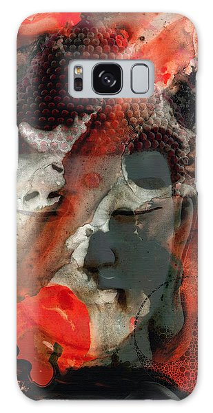 World Religion Galaxy Case - Universal Qi - Zen Black And Red Art by Sharon Cummings
