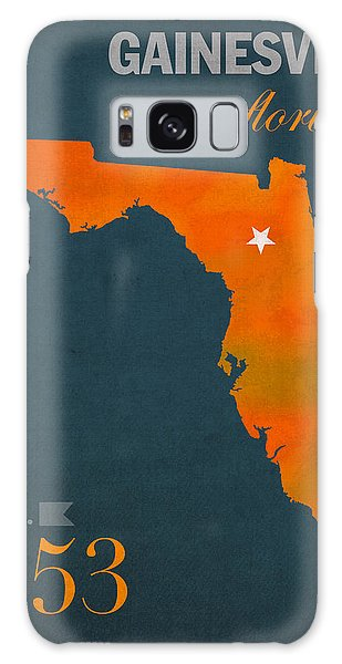 University Of Florida Gators Gainesville College Town Florida State Map Poster Series No 003 Galaxy Case