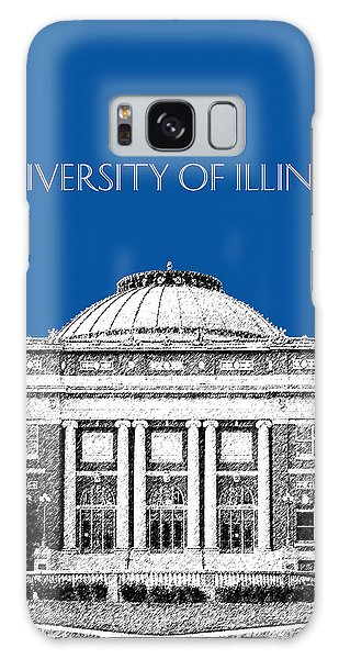 University Of Illinois Foellinger Auditorium - Royal Blue Galaxy Case