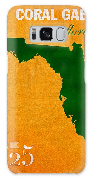 University Of Miami Hurricanes Coral Gables College Town Florida State Map Poster Series No 002 Galaxy Case