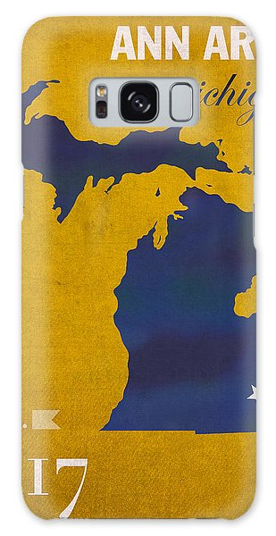 University Of Michigan Wolverines Ann Arbor College Town State Map Poster Series No 001 Galaxy Case
