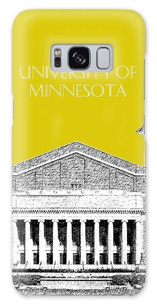 University Of Minnesota 2 - Northrop Auditorium - Mustard Yellow Galaxy Case by DB Artist