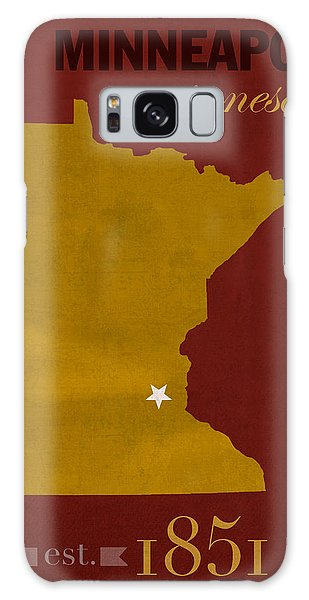 University Of Minnesota Golden Gophers Minneapolis College Town State Map Poster Series No 066 Galaxy Case by Design Turnpike