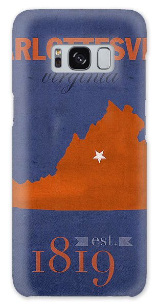 University Of Virginia Cavaliers Charlotteville College Town State Map Poster Series No 119 Galaxy Case
