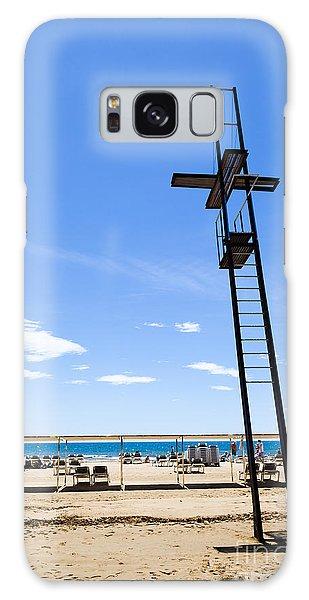 Unoccupied Lifeguard Platform On  The Beach  Galaxy Case