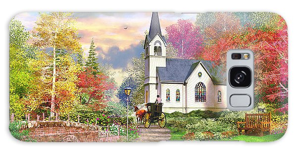 Cottage Galaxy Case - Autumnal Church by MGL Meiklejohn Graphics Licensing