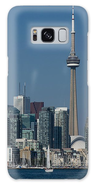 Up Close And Personal - Cn Tower Toronto Harbor And Skyline From A Boat Galaxy Case by Georgia Mizuleva