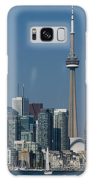 Up Close And Personal - Cn Tower Toronto Harbor And Skyline From A Boat Galaxy Case