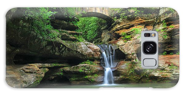 D10a-113 Upper Falls At Old Mans Cave Hocking Hills Photo Galaxy Case