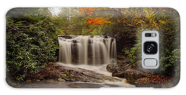 Galaxy Case featuring the photograph Upper Falls Waterfall On Big Run River  by Dan Friend