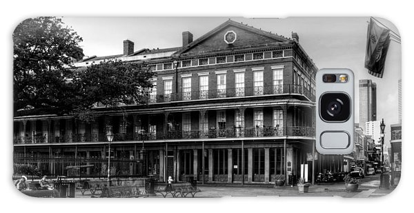 Upper Pontalba Building In Black And White Galaxy Case