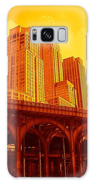 Upper West Side And Hudson River Manhattan Galaxy Case