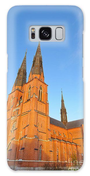 Uppsala Cathedral In Sweden - Glowing In The Evening Light Galaxy Case