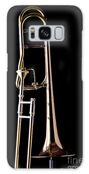 Trombone Galaxy S8 Case - Upright Rotor Tenor Trombone On Black In Color 3465.02 by M K  Miller