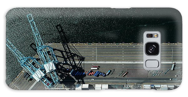 Urban Landscape With River And Industry Galaxy Case