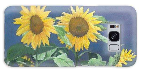 Urban Sunflowers Original Colorful Painting Sunflower Art Decor Sun Flower Artist K Joann Russell    Galaxy Case