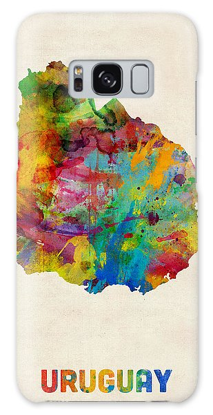 Uruguay Watercolor Map Galaxy Case