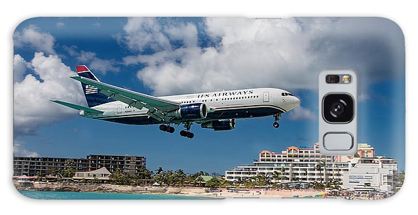 U S Airways Landing At St. Maarten Galaxy Case