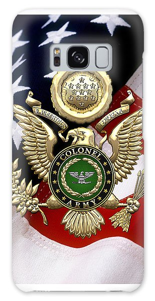 U. S. Army Colonel - C O L Rank Insignia Over Gold Great Seal Eagle And Flag Galaxy Case