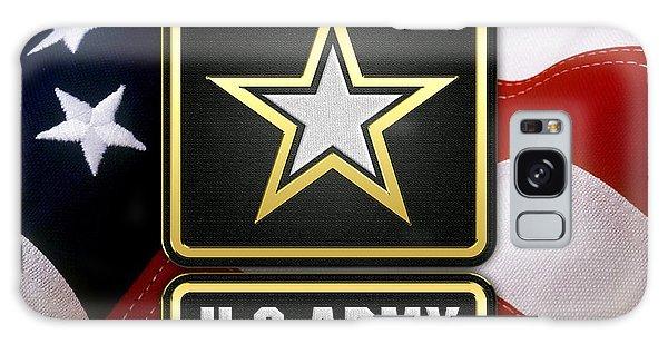 U. S. Army Logo Over American Flag. Galaxy Case