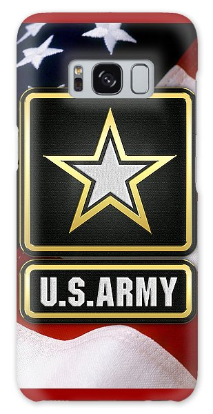 U. S. Army Logo Over American Flag. Galaxy Case
