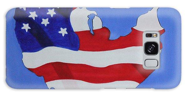 Us Flag Galaxy Case
