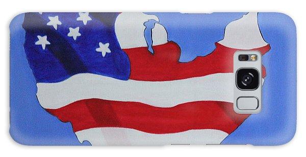 Us Flag Galaxy Case by Lorna Maza