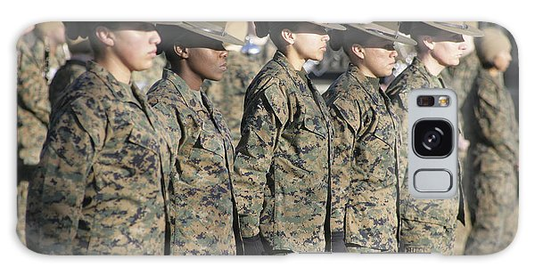Galaxy Case featuring the photograph U.s. Marine Corps Female Drill by Stocktrek Images