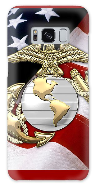 U. S. Marine Corps - U S M C Eagle Globe And Anchor Over American Flag. Galaxy Case