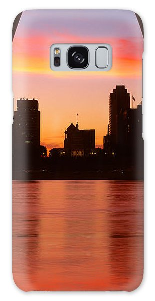 St Louis Mo Galaxy Case - Us, Missouri, St. Louis, Sunrise by Panoramic Images