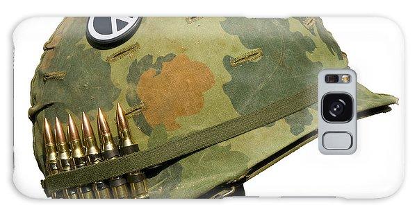Us Vietnam War Helmet - Peace Button Galaxy Case