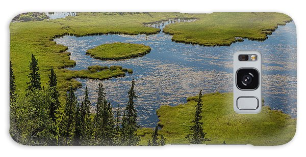 Boreal Forest Galaxy Case - Usa, Alaska Landscape With Moose Pond by Jaynes Gallery