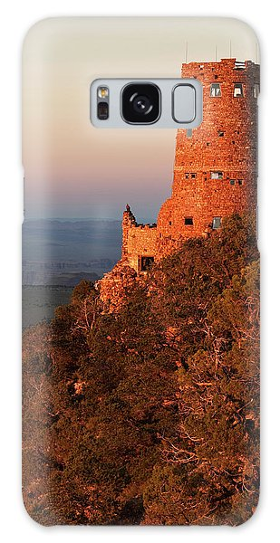 Desert View Tower Galaxy Case - Usa, Arizona, Grand Canyon National Park by Ann Collins