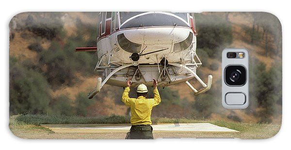 Kings Canyon Galaxy Case - Usa, California, Fire Helicopter by Gerry Reynolds